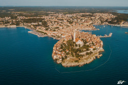 Beautiful city view from above Rovinj - Istria