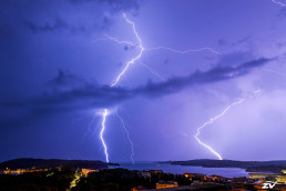 Lightning in Pula, Istria